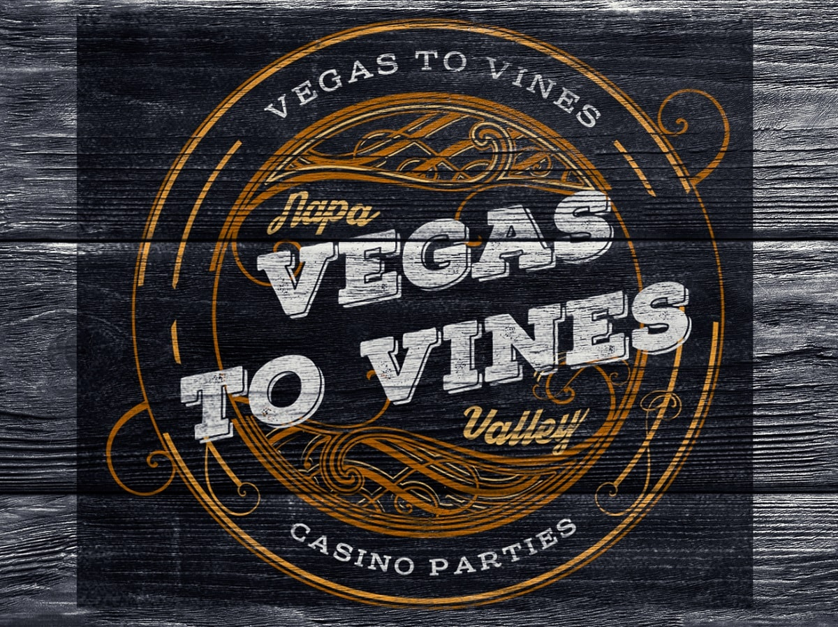 Vegas to Vines Wood Wine Sign